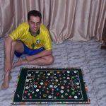 Jorginho, de 39 anos, promove torneios jogando contra si desde 1988 (Foto: Acervo pessoal)