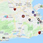 Fizemos um mapa interativo do Google com os 15 estádios do Rio de Janeiro (Foto: Google)