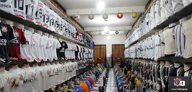 A coleção conta, no momento, com 319 camisas em manequins (Foto: Corinthians)