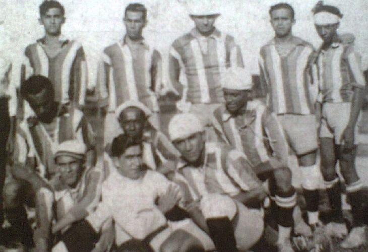 Inicialmente as listras eram verticais, como mostra foto de 1927 (Foto: Reprodução)
