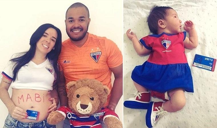 Marcelo associou a filha ao Fortaleza aos três meses de gestação (Foto: Acervo pessoal)