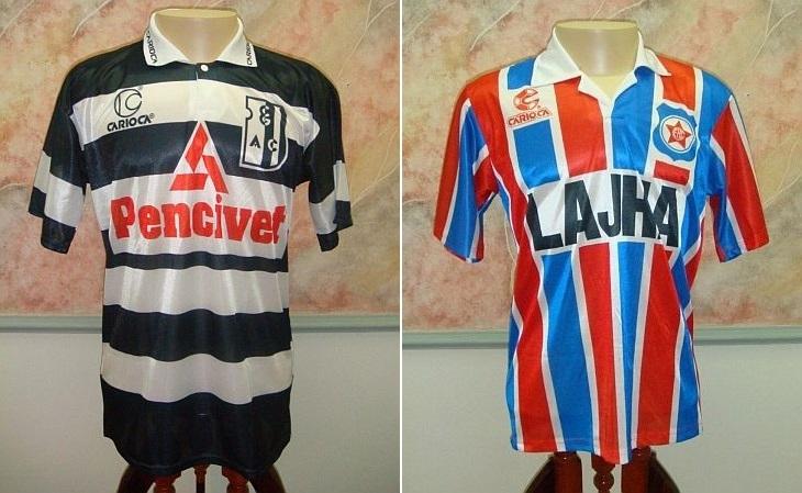 As camisas de Campo Grande e Friburguense são as que faltam (Foto: Mercado Livre)