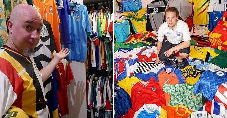Estes dois britânicos reuniram camisas de todas as seleções filiadas à Fifa