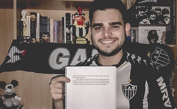 """O """"agradecimento"""" do torcedor do Atlético viralizou nas redes sociais (Foto: Acervo pessoal)"""