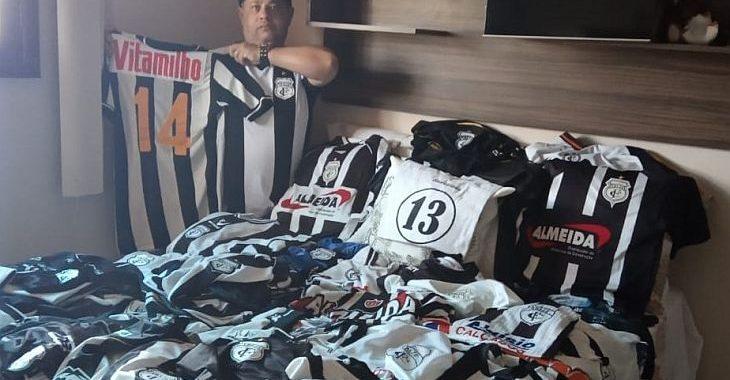 Torcedor do Treze da Paraíba tem coleção com quase 150 camisas do time 8ae85396d3cd1
