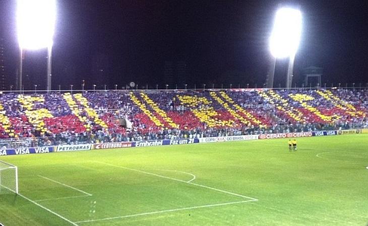 O 1º mosaico de Paulinho foi feito em 2012, em jogo do Fortaleza no PV (Foto: Acervo pessoal)