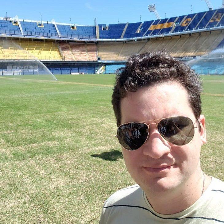 O advogado Samuel Colares visitou o Boca Juniors em dezembro (Foto: Samuel Colares)