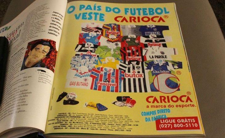 Anúncio da Carioca em edição de 1996 na revista Placar (Foto: Reprodução)
