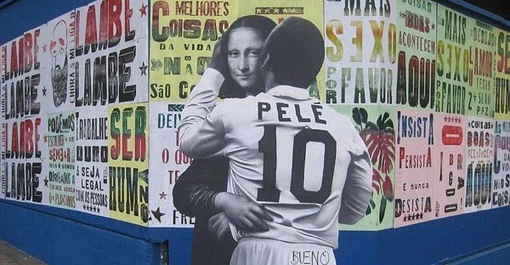 Quem é o artista que espalhou o Pelé Beijoqueiro pelas ruas de São Paulo