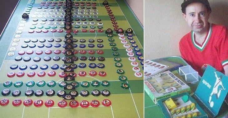 Colecionador tem série completa de times de botão com rostos de jogadores dos anos 70