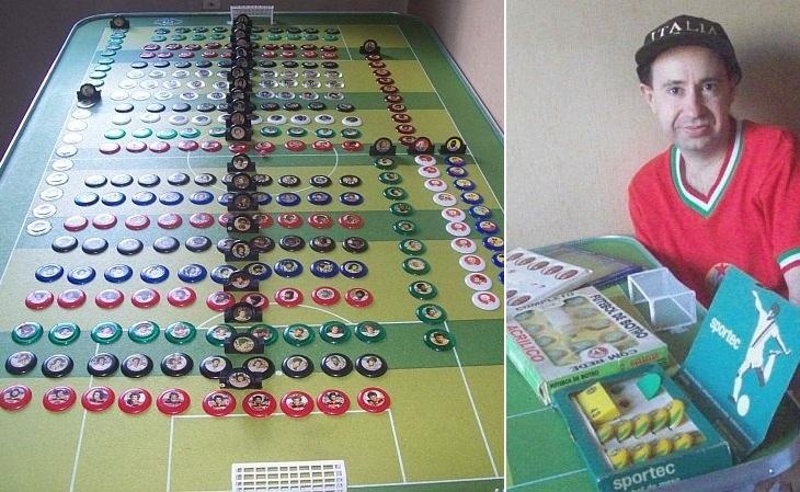 O jornalista Ricardo Bucci, de São Paulo, tem 900 times de botão (Foto: Acervo pessoal)