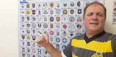 Dentista catarinense já desenhou mais de 3,5 mil escudos de futebol no Paint