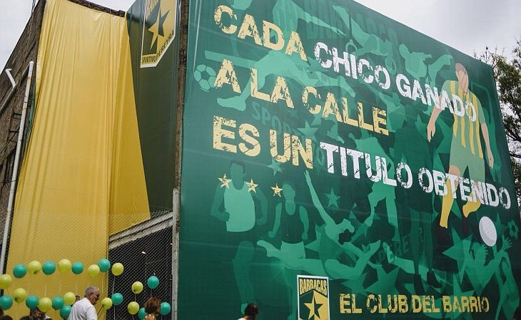 O Sportivo Pereyra hoje se autointitula o maior clube de bairro do mundo (Foto: Divulgação)