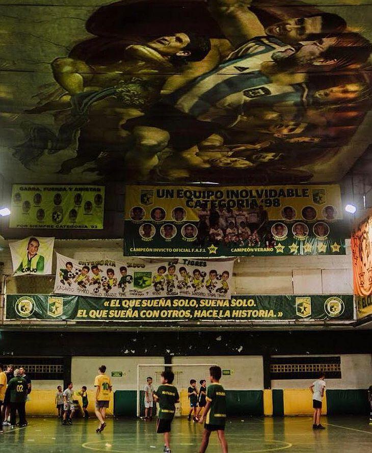 Os jogadores do clube de Barracas tem um céu e tanto para se inspirar (Foto: Divulgação)