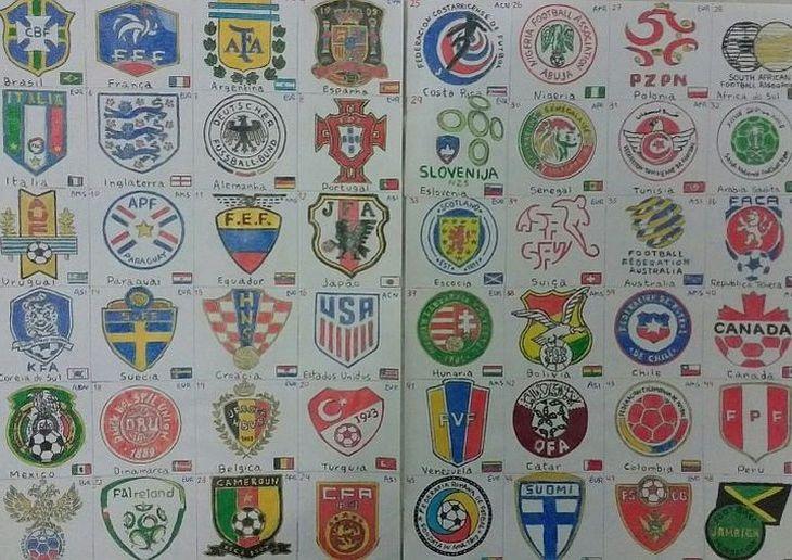 Wellington já desenhou, até esta entrevista, escudos de 216 seleções (Foto: Acervo pessoal)