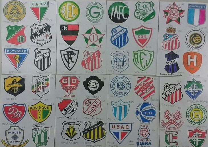 Wellington já desenhou, até esta entrevista, 450 escudos brasileiros (Foto: Acervo pessoal)