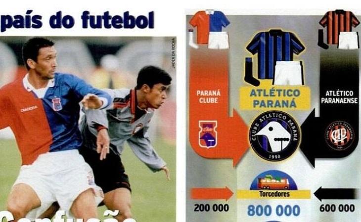 A Placar registrou em 1996 a proposta de união de Atlético e Paraná (Foto: Reprodução)