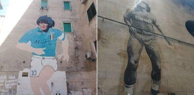 """Bairro de Nápoles mantém um santuário para o """"deus"""" Maradona"""