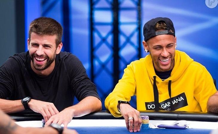 Piqué e Neymar estão entre os maiores fãs de poker no mundo do futebol (FOTO: Reprodução)