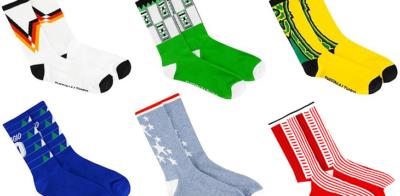 Loja australiana vende meias com estampas de camisas clássicas do futebol mundial