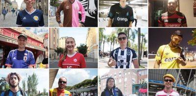 Projeto de fotógrafo francês faz fotos de pessoas com camisas de futebol nas ruas