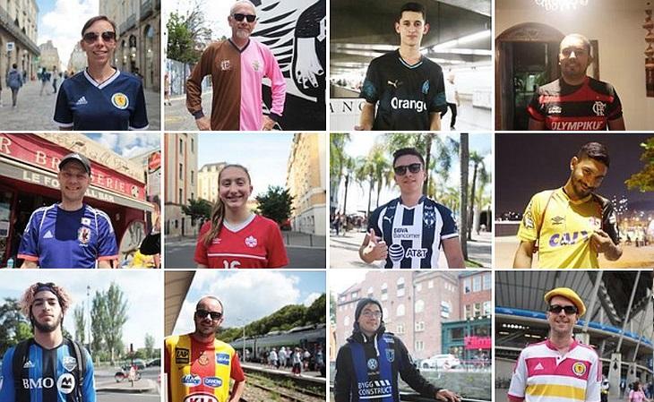 Os retratos de fãs são publicados na internet (Foto: Guy Pichard/United Colors of Football)