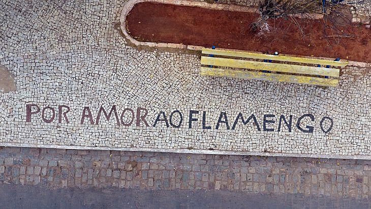 Na praça local, uma homenagem ao Flamengo (Foto: Mikael Teixeira/Verminosos por Futebol)