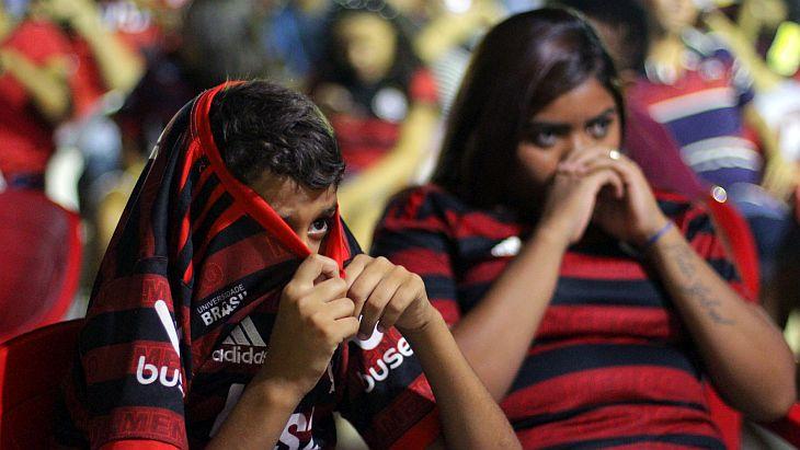O Verminosos acompanhou a final da Libertadores em Flamengo (Foto: Rafael Luis Azevedo/Verminosos por Futebol)