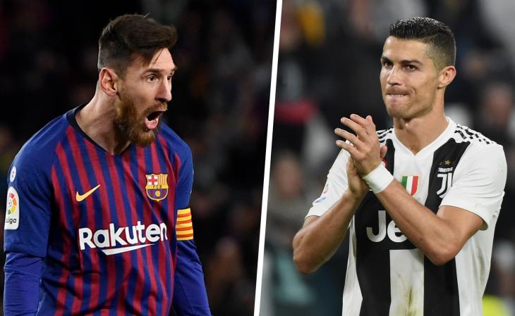CR7 e Messi foram os primeiros jogadores a fazer 100 gols na Champions (Foto: Reprodução)
