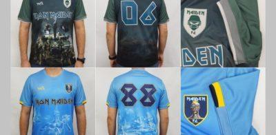 WA Sport produz camisas de futebol temáticas do Iron Maiden