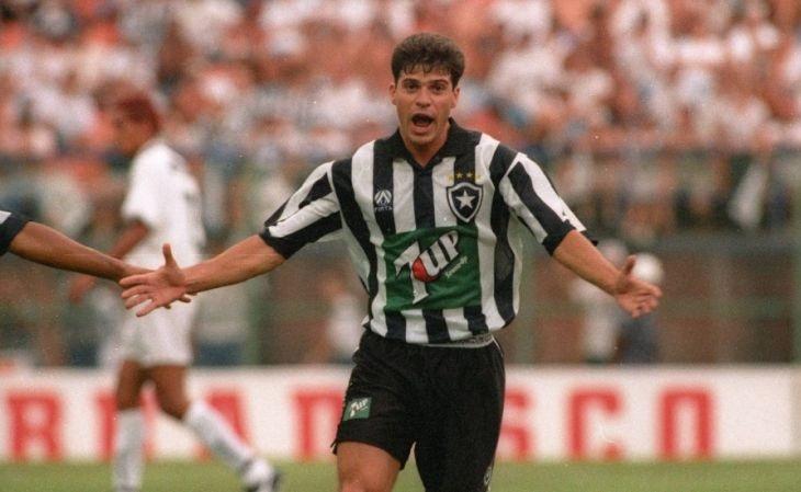 Com o Botafogo de Túlio a Finta esteve em seu 3º título brasileiro (Foto: Reprodução)