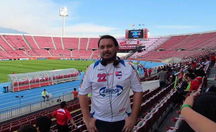 Fernando é um corintiano de origem que hoje torce pelo Nacional da Barra Funda (Foto: Acervo pessoal)