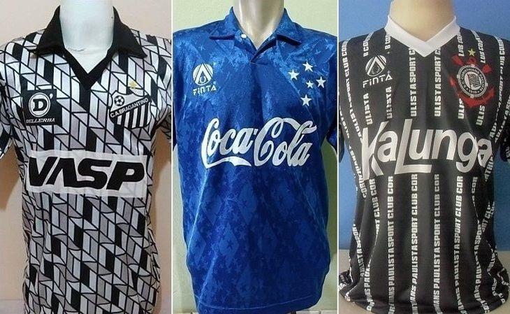 Essas camisas do Bragantino, do Cruzeiro e do Corinthians marcaram época (Foto: Reprodução)