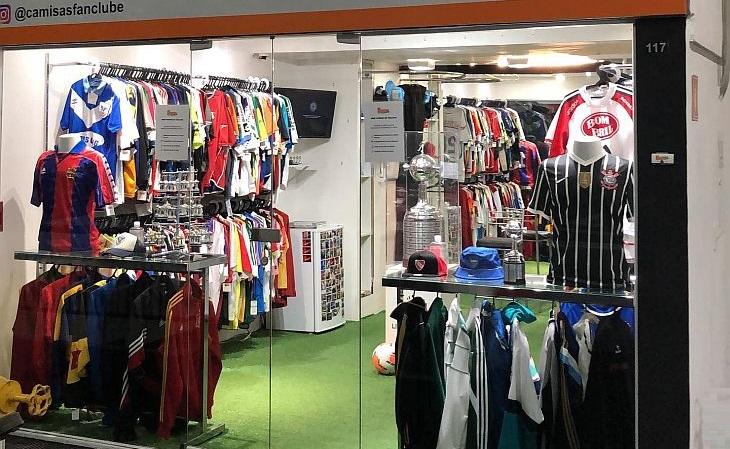 A loja Camisas Fan Clube foi aberta pelo colecionador Luís Felipe Pelosi (Foto: Divulgação)