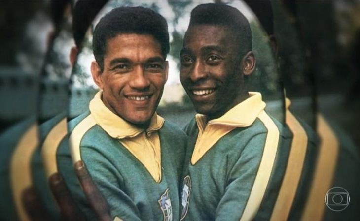 Juntos, Garrincha e Pelé nunca perderam um jogo pela seleção (Foto: Reprodução TV Globo)