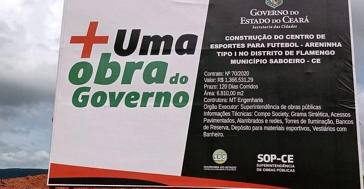 Começa a obra da Areninha de Flamengo, no distrito que foi tema de documentário