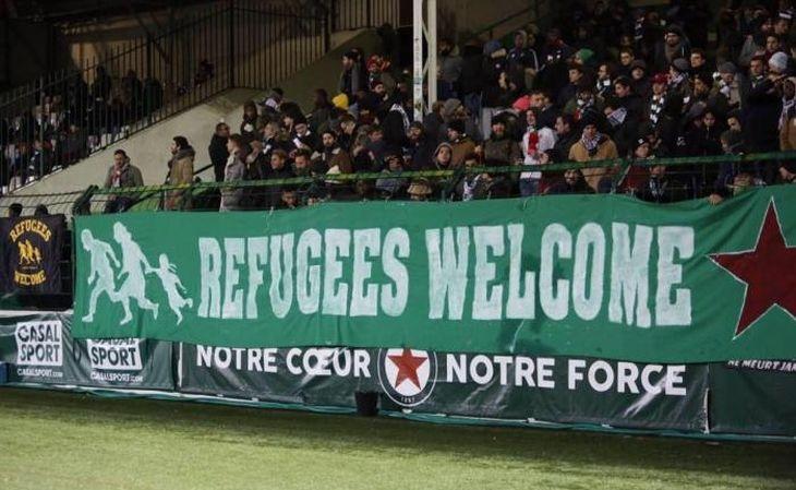 O Red Star adotou oposição ao simbólico futebol financeiro globalizado (Foto: Antifa/Ultras)