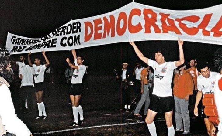 Nos anos 80, o Corinthians teve um papel fundamental na luta contra a Ditadura Civil-Militar (Foto: Bruno Hoffmann/Agência PT)