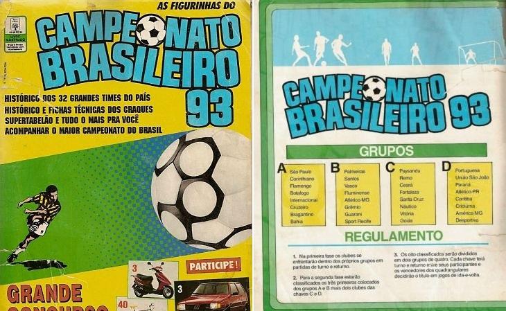 Veja todas as figurinhas do álbum do Campeonato Brasileiro de 1993
