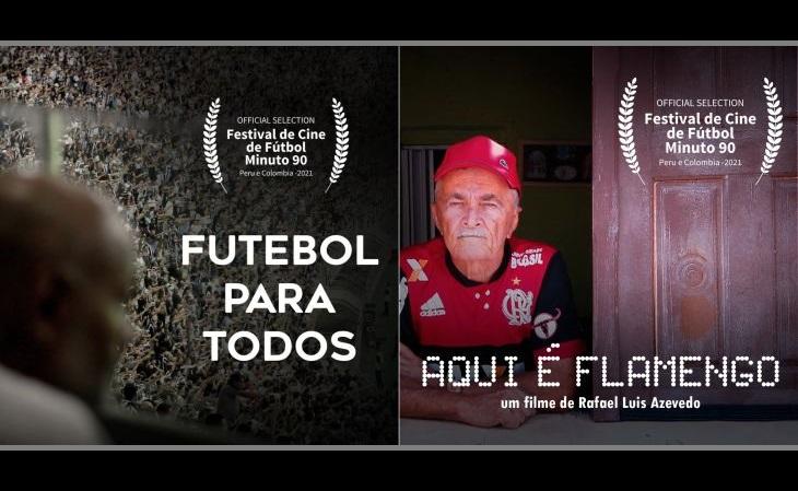 """Os curtas """"Futebol para Todos"""" e """"Aqui é Flamengo"""" foram lançados em 2019 e 2020 (Foto: Divulgação)"""