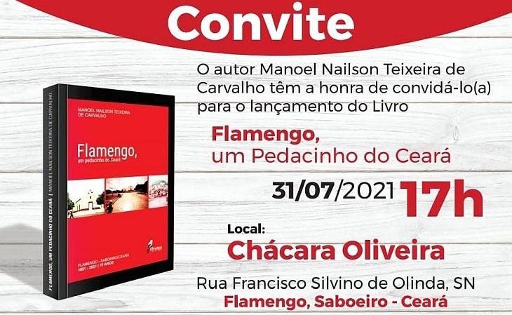 """O livro """"Flamengo, Um Pedacinho do Ceará"""" está à venda por R$ 35 (Foto: Divulgação)"""