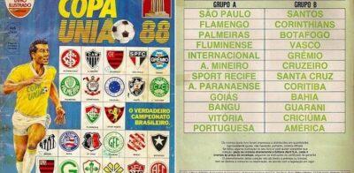 Veja todas as figurinhas do álbum do Campeonato Brasileiro de 1988